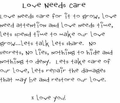 Love Needs Care