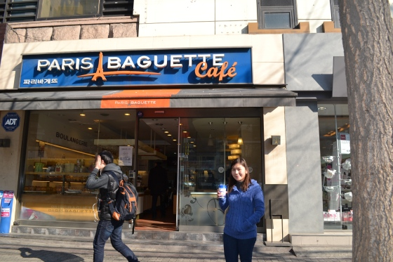 Paris Baguette Cafe serves fresh baked breads and coffee