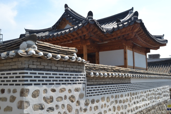 One of traditional korean houses in Bukchon Village