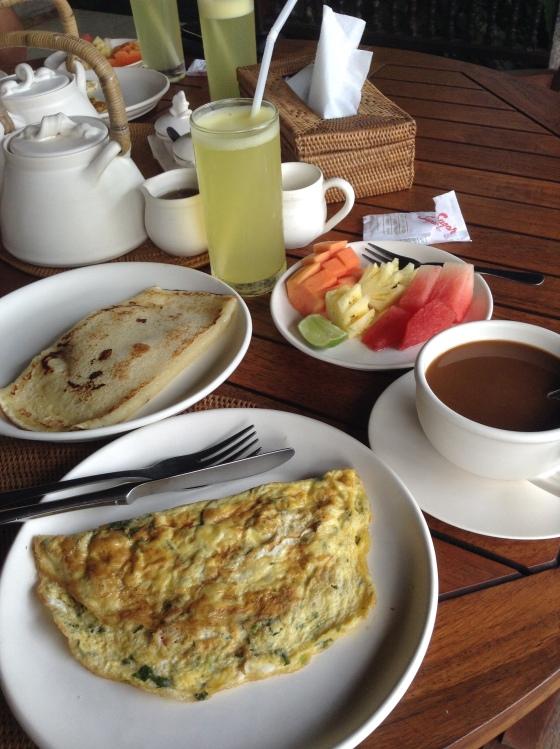 Healthy complimentary Breakfast by Villa Prana Shanti, Ubud
