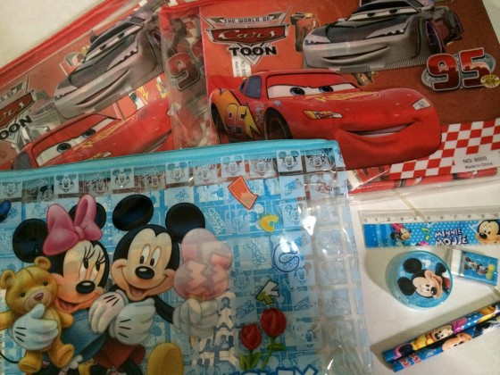 Cars, Hello Kitty & Mickey Mouses Stationary
