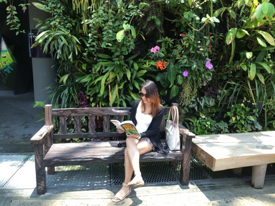 Keep calm and read a book at Flower Dome, Singapore
