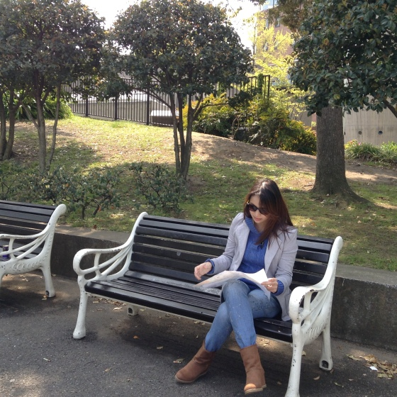 Feeling lost at Yamashita Park, Yokohama, Japan