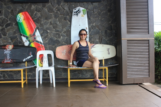 Wake board inspired bench at CWC Wake boarding Park at CamSur