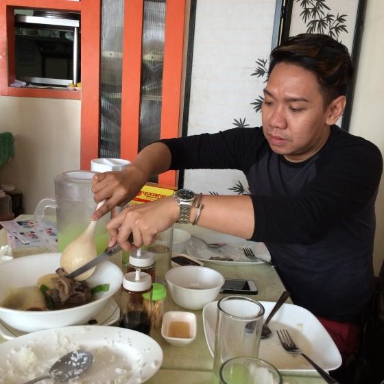 Sean piggging at LZM Nuvali (Bulalo and Bangus ay winner talaga)