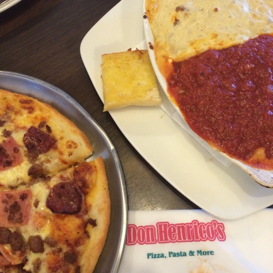 Pizza, Pasta and Chiken Wings at Don Henricos, Festival Mall